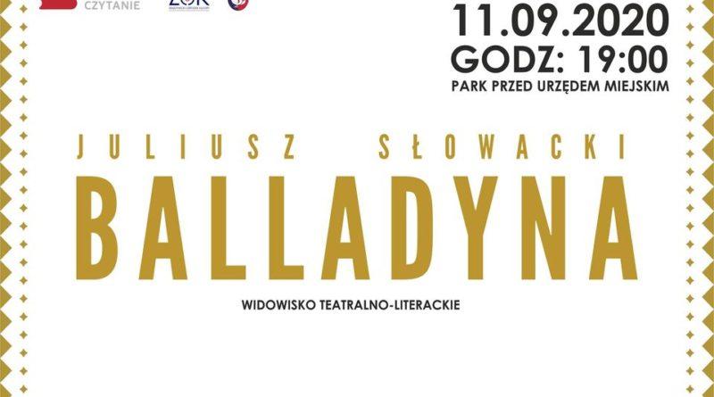 """Narodowe Czytanie """"Balladyny"""" (zaproszenie)"""