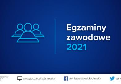 Egzaminy potwierdzające kwalifikacje w zawodzie – sesja styczeń-luty 2021